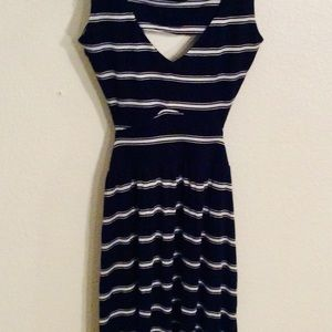 Ocean Drive Nautical Striped Knit Mini Dress